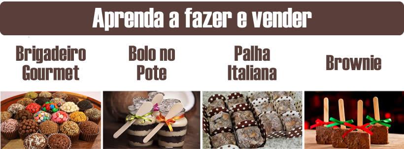 Curso Doce Gourmet ensina a fazer Bolos no Pote, Brigadeiros, Palhas Italianas e Brownies
