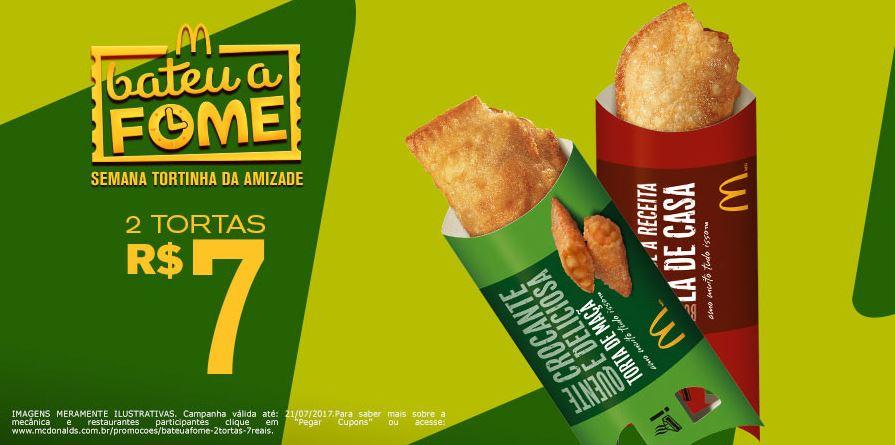 2 Tortinhas por R$ 7 no McDonald's