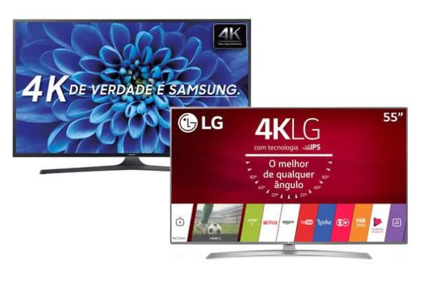 Promoção de Smart TVs 4K no Walmart