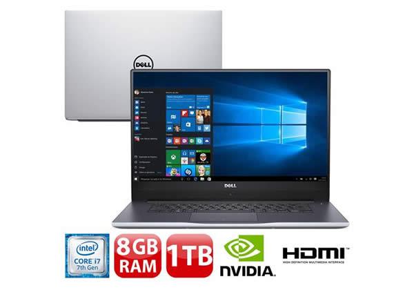 Notebook Dell Inspiron I15-7560-A20S em até 12x sem juros no Pontofrio