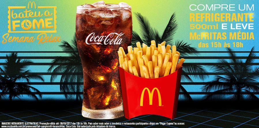 Compre Refri 500ml e Ganhe McFritas Média no McDonald's