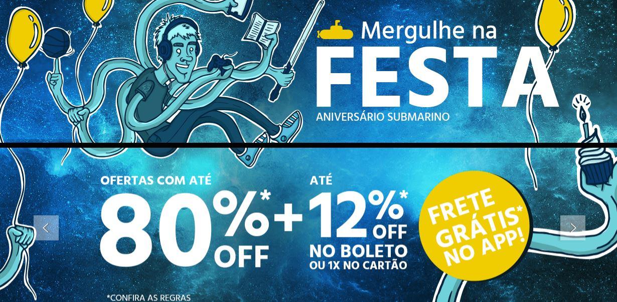 Aniversário Submarino - Ofertas e Promoções