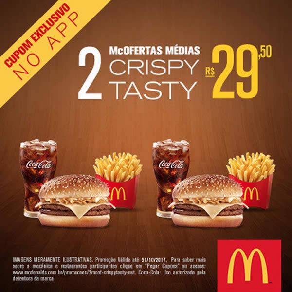 McOfertas Médias: 2 Cripy Tasty por R$29,50