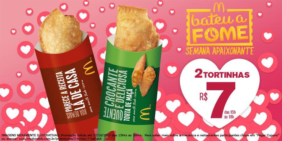 2 Tortas por R$7,00 no McDonald's
