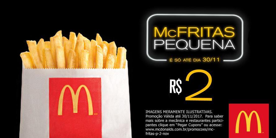 McFritas Pequena por R$ 2 no *McDonald's