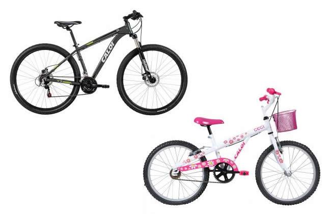 Bicicletas Caloi com até 35% de desconto no Magazine Luiza