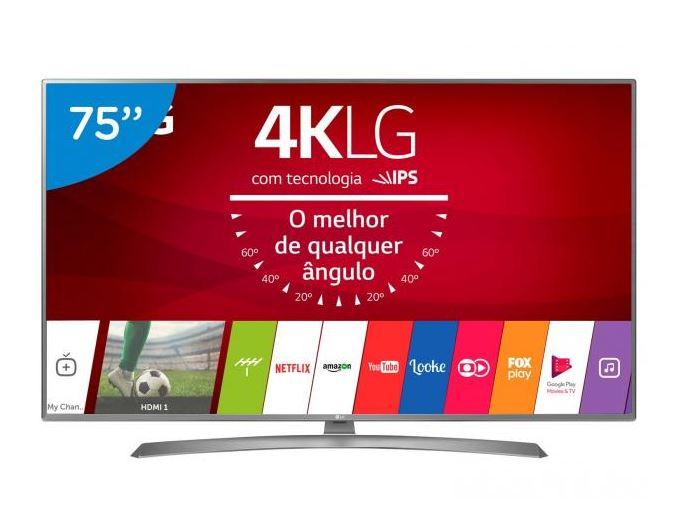 """Smart TV LED 75"""" LG 4K/Ultra HD 75UJ6585"""