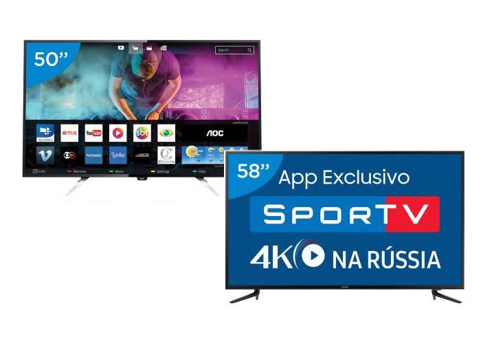 Smart TVs para Copa do Mundo em promoção no Magazine Luiza